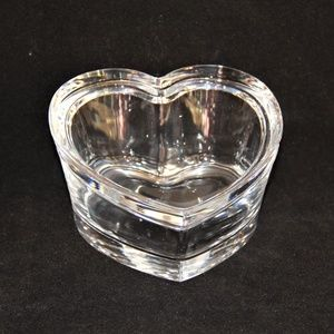 Beautiful Leaded Glass Heart with Lid Trinket Box